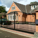 Wrought Iron Bespoke Large Gates, Automatic Gates, Electric Gates, Security Gates from J F Fabrications Chesterfield