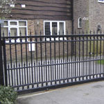 Bespoke electric sliding gates