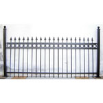 Wrought iron metal fence panel, made to measure