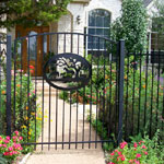 Wrought iron metal gates. made to measure