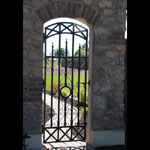 Wrought iron yard gate, made to measure
